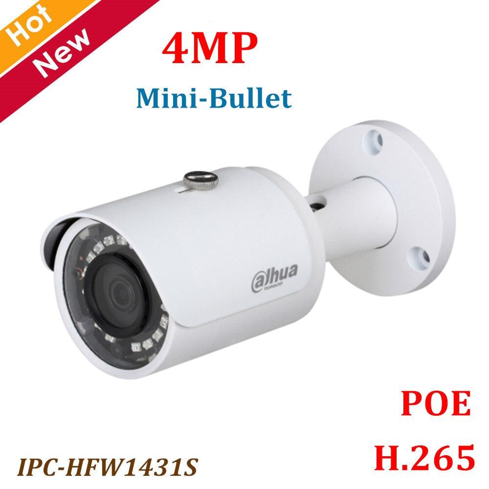 Dahua POE Ip camera IPC HFW1431S 4MP WDR IR Mini Bullet Camera IR Distance 30m H
