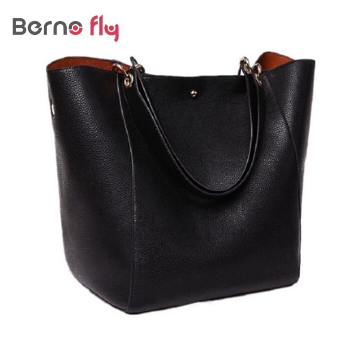 ФОТО New Fashion shoulder bag for girls Ladies Open Pocket Bucket Bag Women vintage leather Handbag Casual Tote Lady Crossbody bag