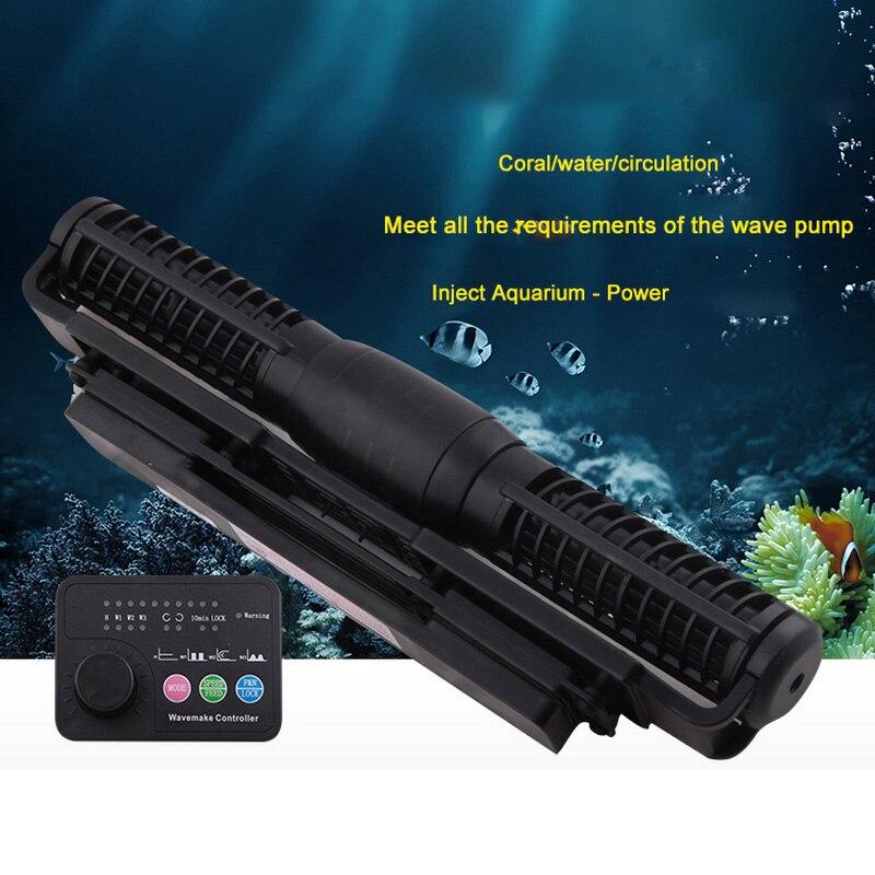 цена 110-240V Cross Flow Aquarium Pump Wave Pump 5 Flow Model CP-55 for Fish Tank Wireless Master Slave Pump Control Wave Maker