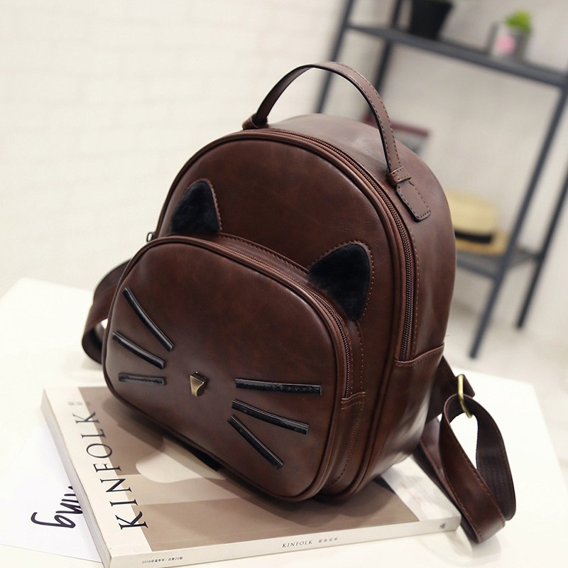 Kawaii Cat Ear Backpack Black Preppy Style School Backpacks For Teenage Girls College Style Casual Backpack Sac Mochilas on Sale (26)