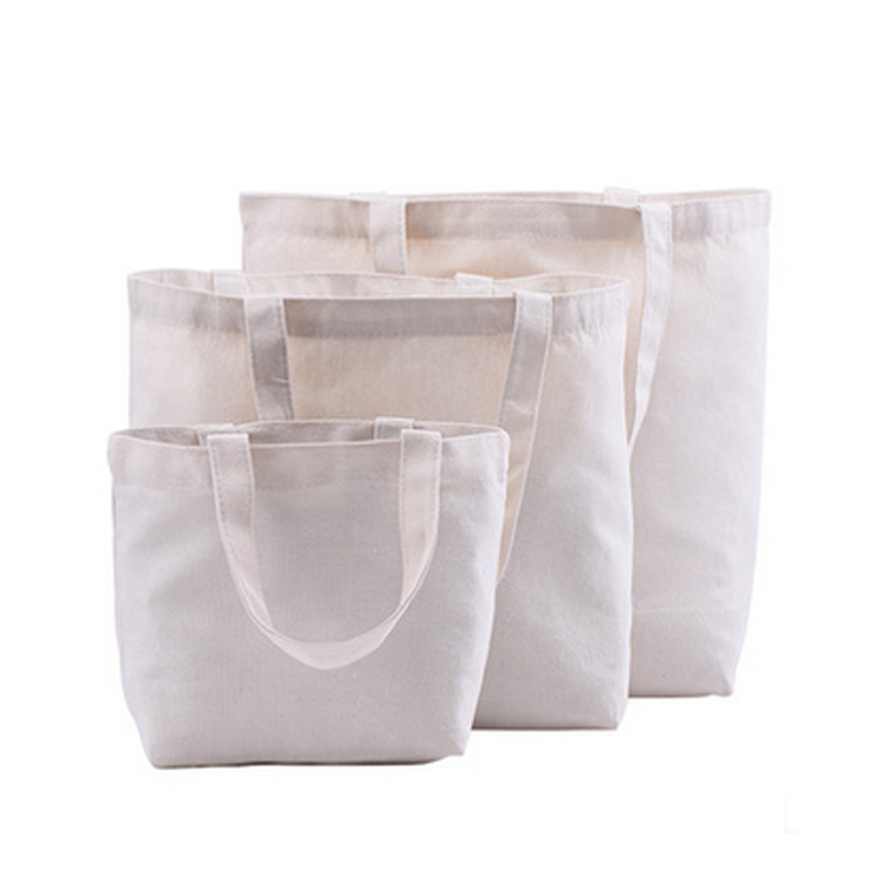 Eco shopping bags 30*35cm cotton reusable grocery bag 10 pieces casual tote shoulder beach bag custom printing canvas handbags bag wholesale eco reusable shopping bags cloth fabric grocery packing recyclable hight simple design healthy tote handbag trendy