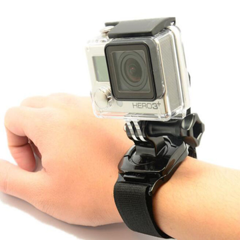 360 Degree Rotation Armlet Wrist Band Hand Strap Mount For Gopro Hero 6 3 4 5 Xiaomi Yi SJCAM SJ4000 SJ5000 Camera Accessories