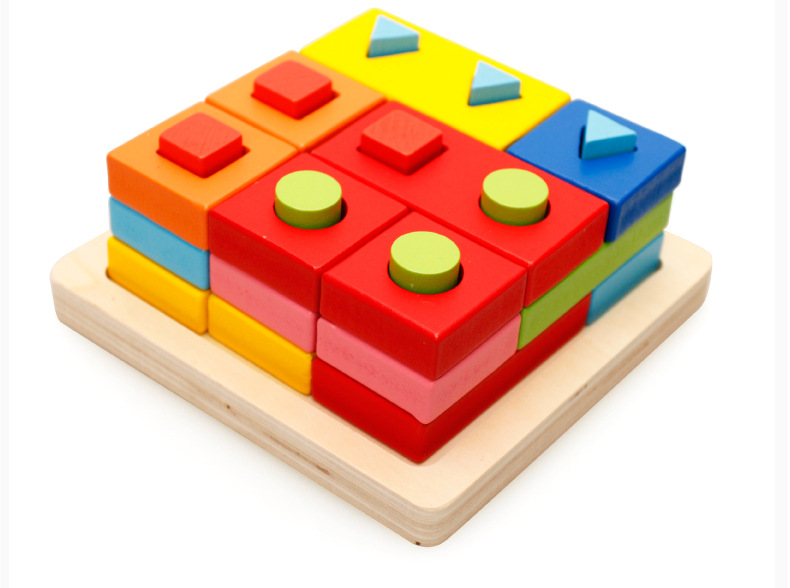 Baby Kids Wooden Board 3D Puzzle Learning Educational Toy ...