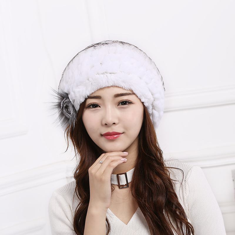free shipping 2017 new fashion winter high quality acrylic hat knitted hat bonnet ladies casual cap for women ladies Hot ladies fashion excellent knitted real natural rex rabbit fur hat Genuine Women winter cap high quality beret hat