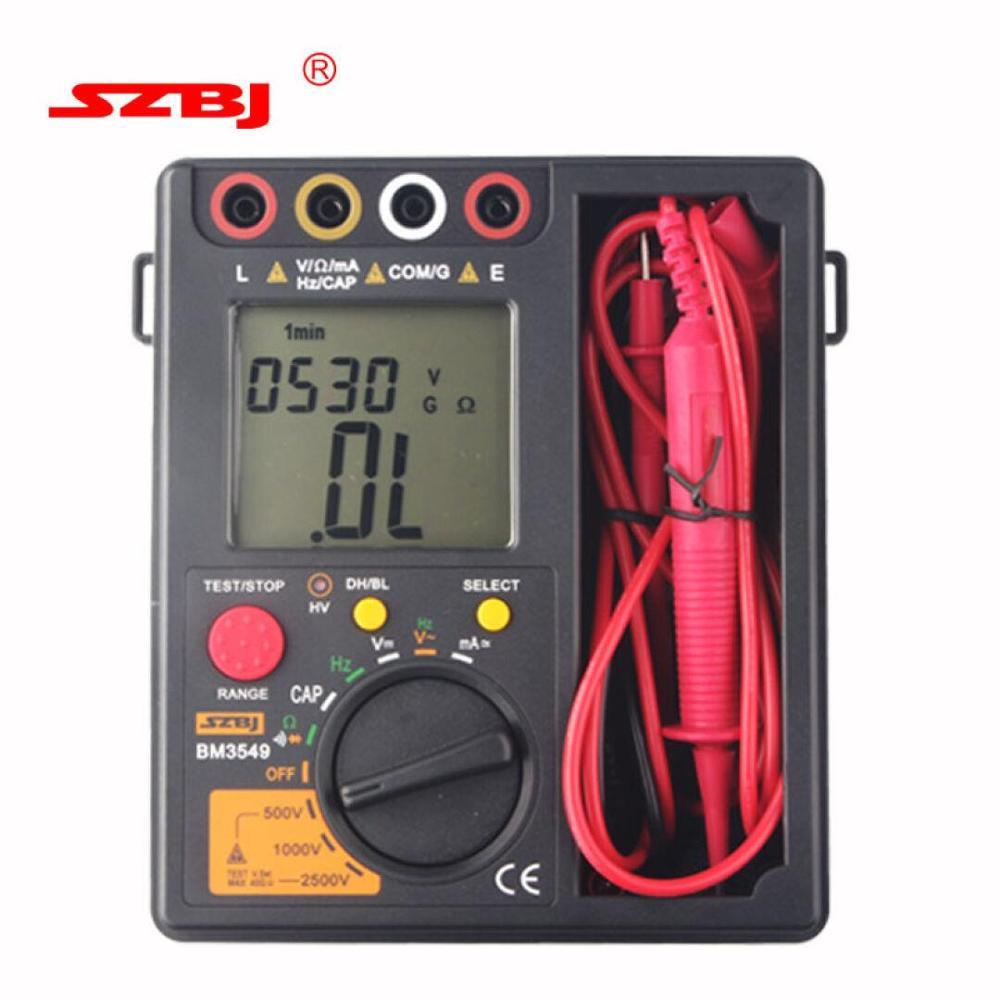 BM3549 Megger Test Megohmmeter Digital Insulation Resistance Tester Meter Professional Digital Multimeter 2500V  цены