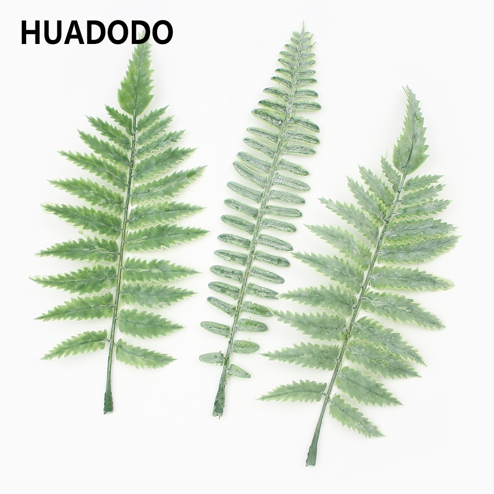 Christmas Leaves.Us 2 98 25 Off Huadodo 10pieces Simulation Fern Leaf Artificial Flower Grass Green Plant Persian Leaves For Diy Wedding Christmas Decoration In