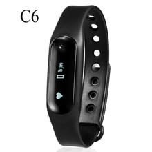 Bluetooth C6 Wristband Bracelet IP67 waterproof watches OLED Smartband Bluetooth 4.0 with Sleep Tracker Health Fitness Tracker
