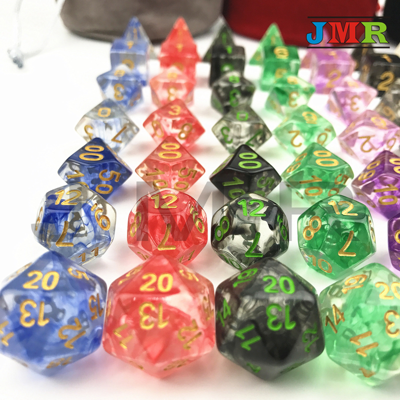 Nebula Dice 7PCS/SET Juegos De Mesa Dados,Set of D4-D20 Polyhedral Dice for Rpg Dungeon and Dragons Dice Sets,for Dice Stacking