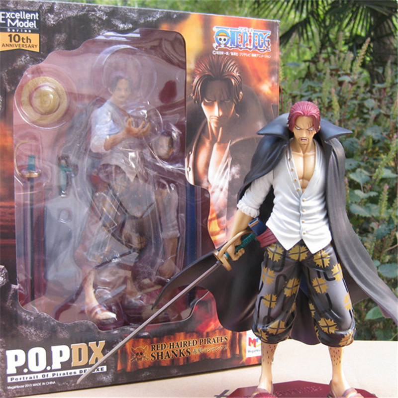 1pc/lot Anime One Piece Figures POP Figure Toys Shankusu High Quality Shanks PVC Action Figures Best Gift For Kids 23cm