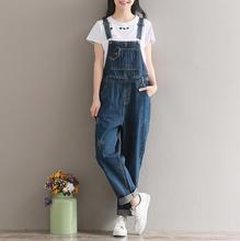 2c16b42f0607 2018 Jeans Women Jumpsuit Denim Romper Overalls Casual Long Trousers  Vaqueros Basic Denim Pants Wide Leg