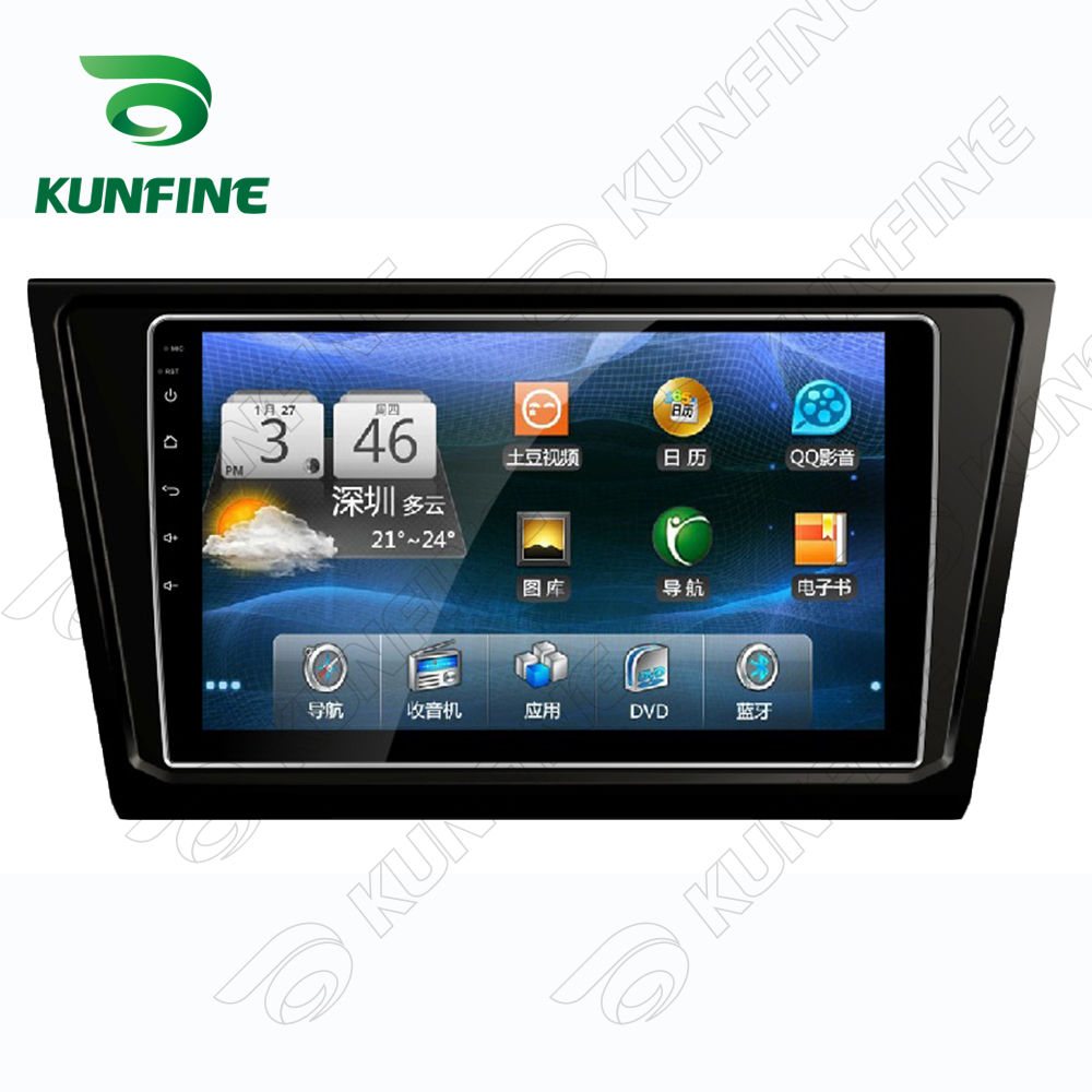 Quad Core 1024*600 Android 5.1 Car DVD GPS Navigation Player Deckless Car Stereo for VW BORA 2016 Radio Bluetooth