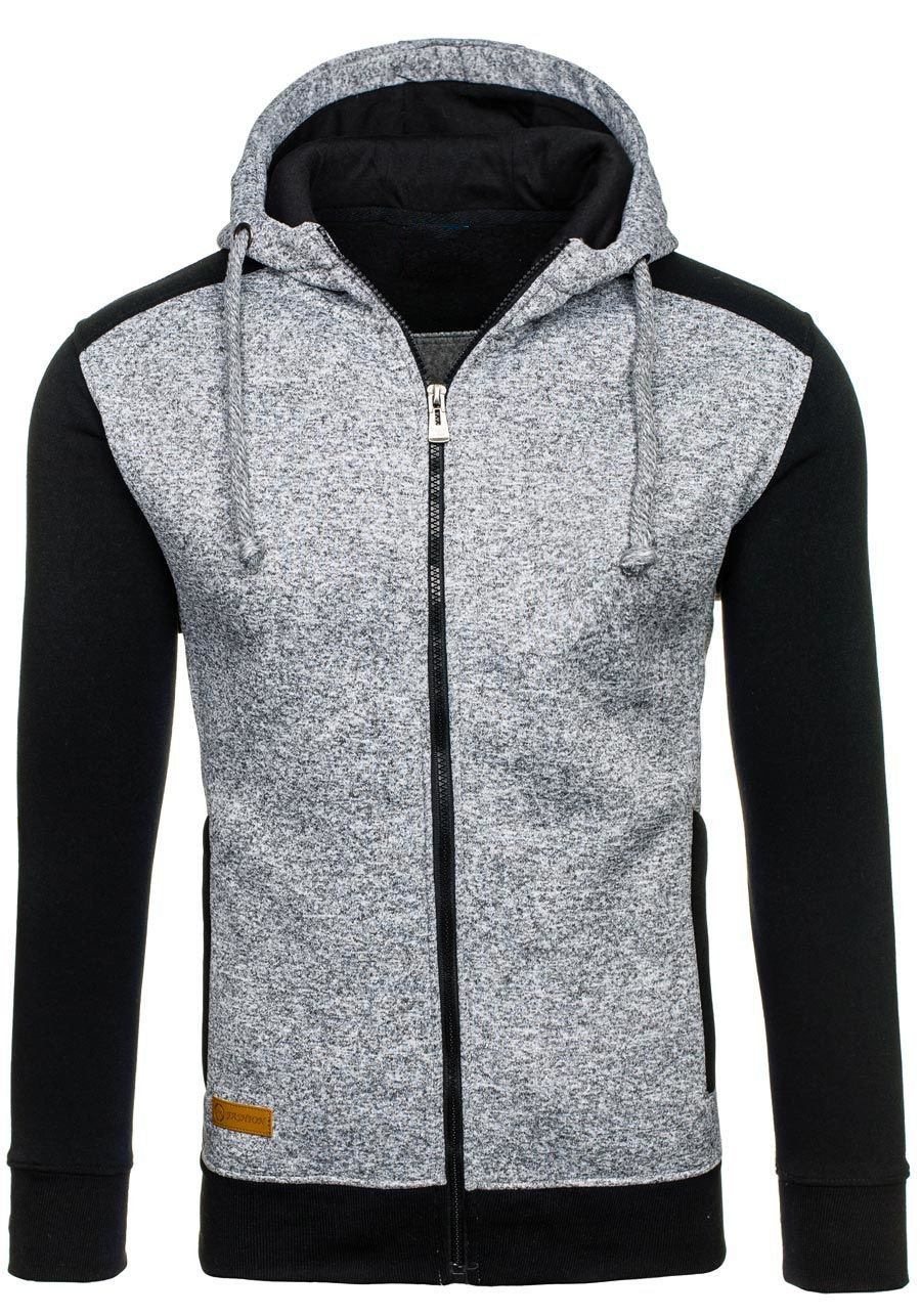 Zogaa 2019 Men's Hooded Jackets Autumn Men Thick Warm Sweatshirts Male Patchwork Zipper Warm Jumper Outwear 3 Colors