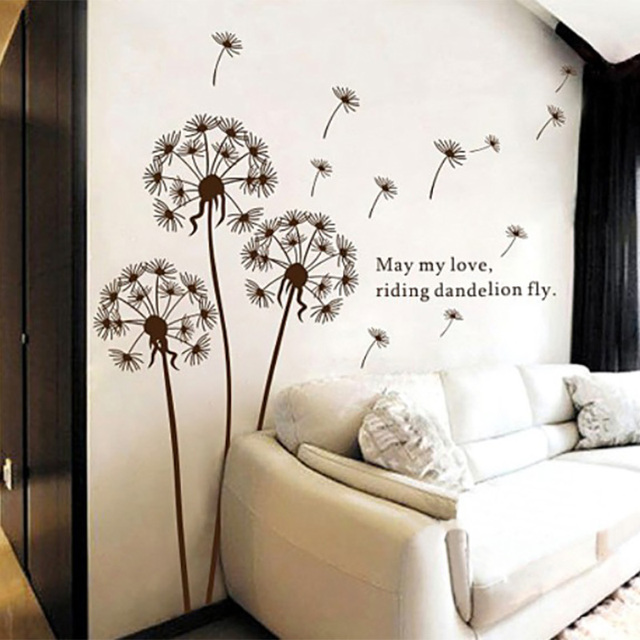 Dandelion Wall Sticker Flower Wall Stickers For Living Room Dandelion Wall  Decals Dandelion Wall Art Flower