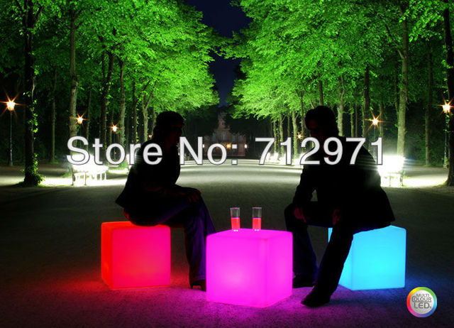 Bar Chair For Wedding Decoration Battery Powered Led Cube Chair