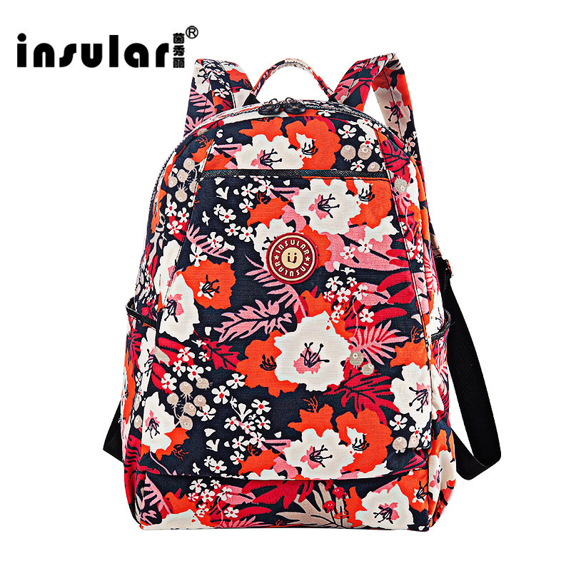 insular baby diaper bagsinsular baby nylon diaper bags mother nappy maternity backpack mom bag. Black Bedroom Furniture Sets. Home Design Ideas