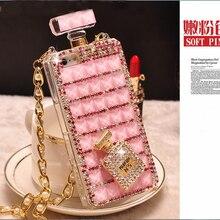 Luxury 3D Diamond Case TPU Rhinestone Bling Cover Bottle Diamante Fundas Coque Capa Para for iPhone 6 6s 7 plus 5S 5 SE 5C 4S 4