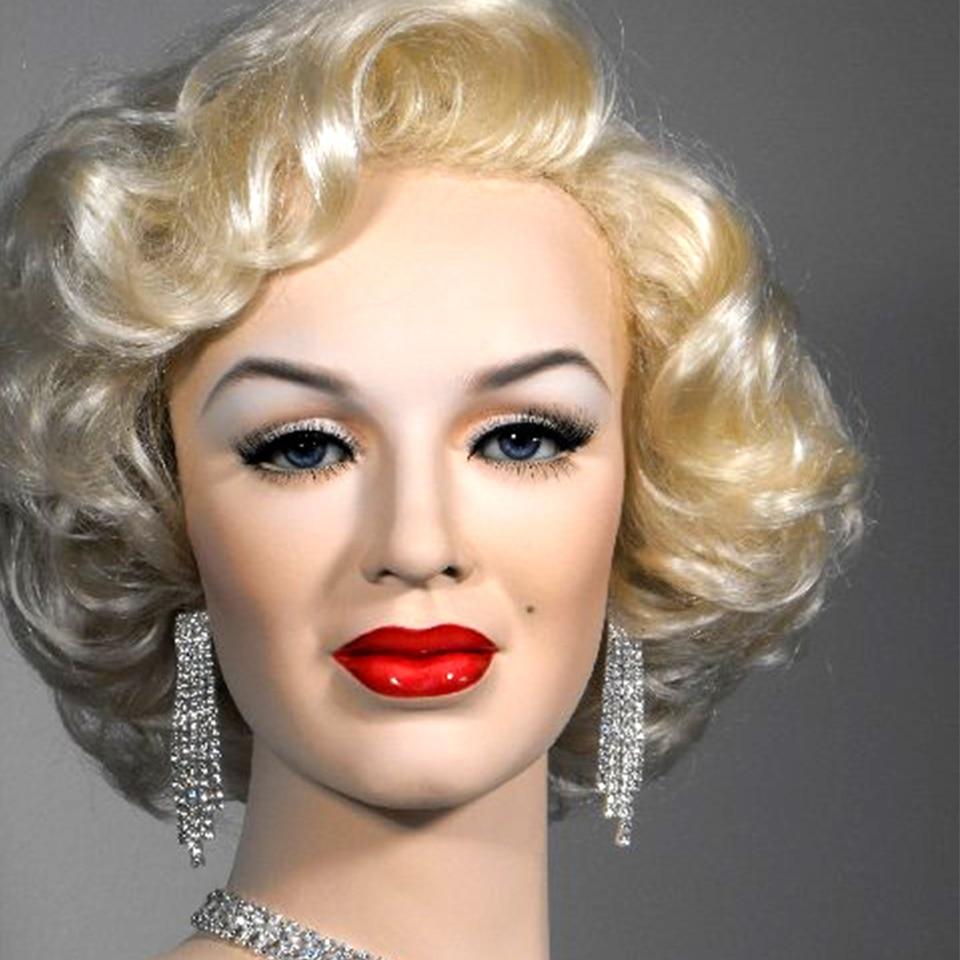 SHENGMEIYAUN Marilyn Monroe Mode Bouclés