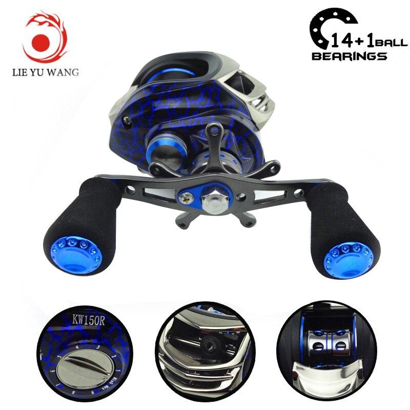 Lieyuwang 14+1BB 6.3:1 Carp Bait Casting Fishing <font><b>Reels</b></font> Water wheel low profile <font><b>reel</b></font> Carretilha de pesca molinete Abu garcia