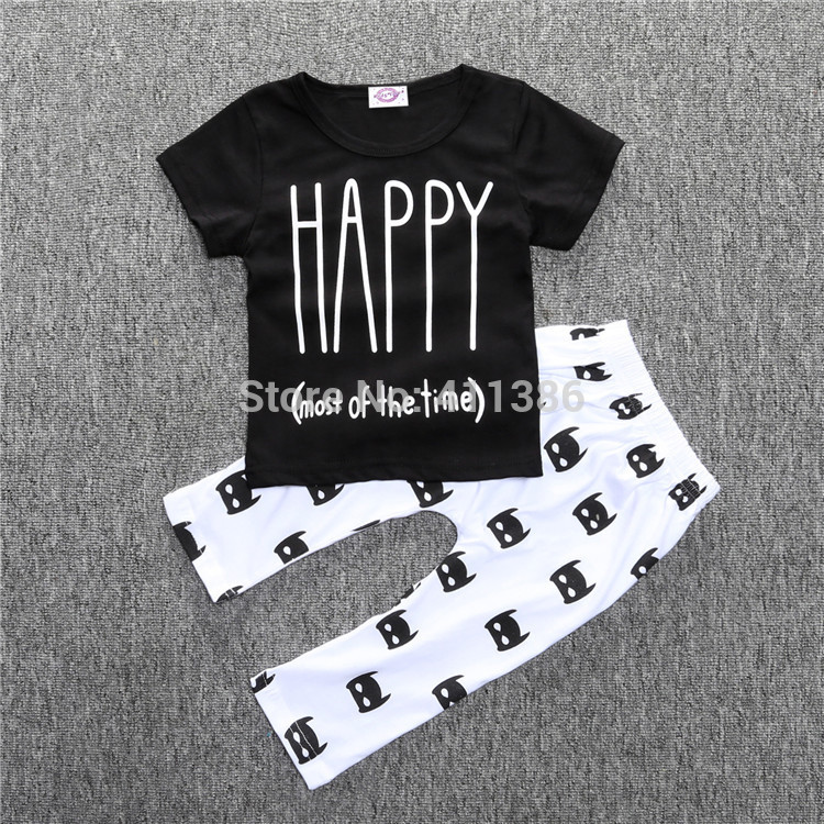 ST189 2017 Nowa dziewczyna przyjazdu i chłopców ubrania ustawić długi rękaw + Spodnie sowa wzór zestaw noworodka ubrania dla dzieci garnitur dzieci odzież 59