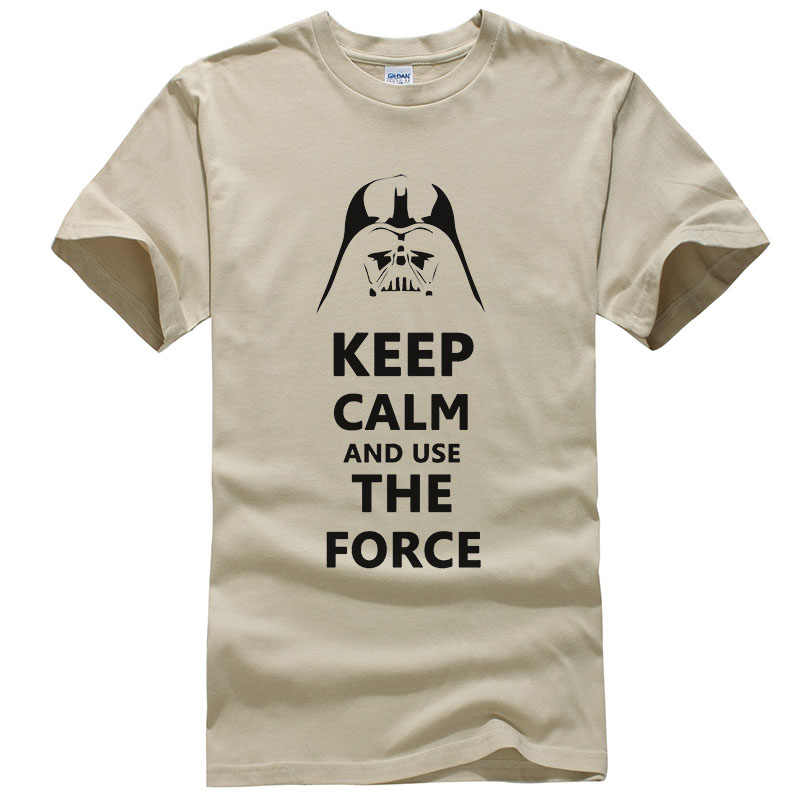 ca0555e791 ... Star Wars Darth Vader T Shirt Men Funny Design Keep Calm and Use The  Force Pattern ...