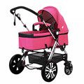 Stroller high landscape damping folded double baby stroller can sit can lie baby car