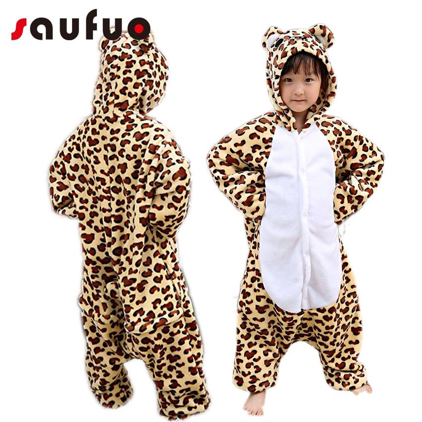 Unisex Leopard Cosplay kostum za otroke Otroški deček Cartoon - Karnevalski kostumi