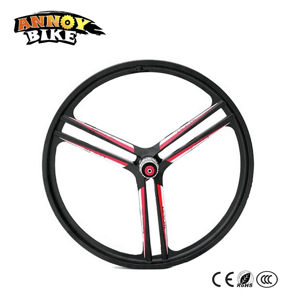 цена 20 inch Bicycle Wheel Carbon Wheel Bicicletas Mountain Bike 20 inch 3 Spoken Road Bike Montain Bicycles Magnesium Alloy Wheel
