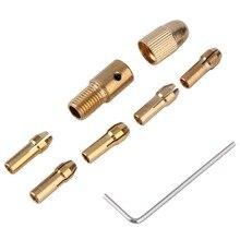 LNHF 8 Шт. 0.5-3 мм Небольшой Электрический Микро Спиральное Сверло Цанговый Патрон Инструмент Комплект Популярные Новые