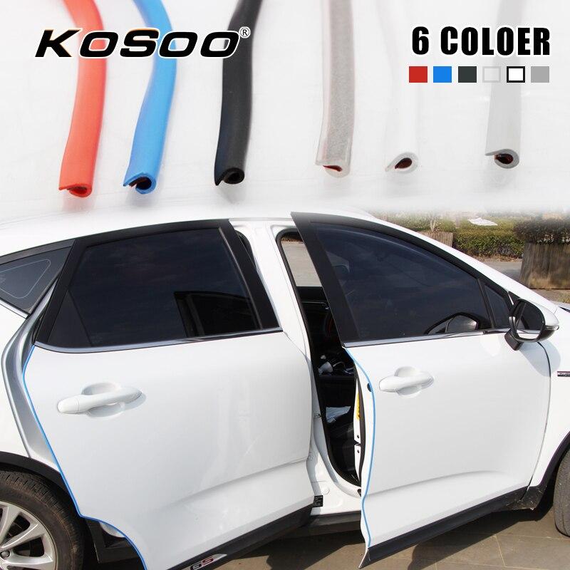 BLUE Car Door Edge Guard Moulding Trim DIY Protector Strip 2//4 Door 20Ft//6M