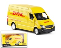15cm High quality Alloy DHL Car model toys for boys kids pull Vehicle Metal Diecast back