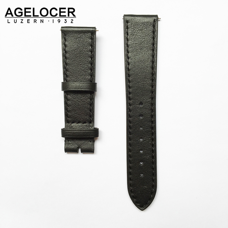 Hand made high Quality Fine Leather Watch Strap men genuine leather strap 20mm Buckle Wrist Replacement Fits Mens Relojes Hombre eache 26mm hand made crazy horse genuine leather replacement watch band strap fit for garmin fenix 3 silver black buckle