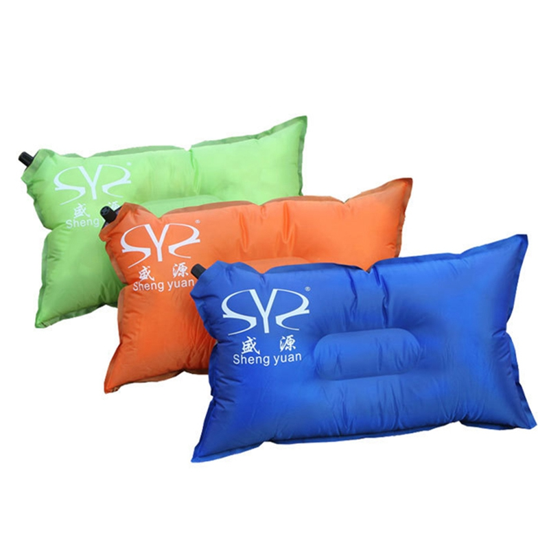 new inflatable camping pillow ultralight spinning mini inflatable air soft travel pillow outdoor portable cushion