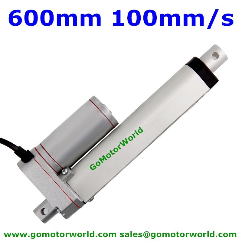 Best heavy duty Linear Actuator 12V 24V 600mm Stroke  1600N load 100mm/s speed actuator linear manufacturer