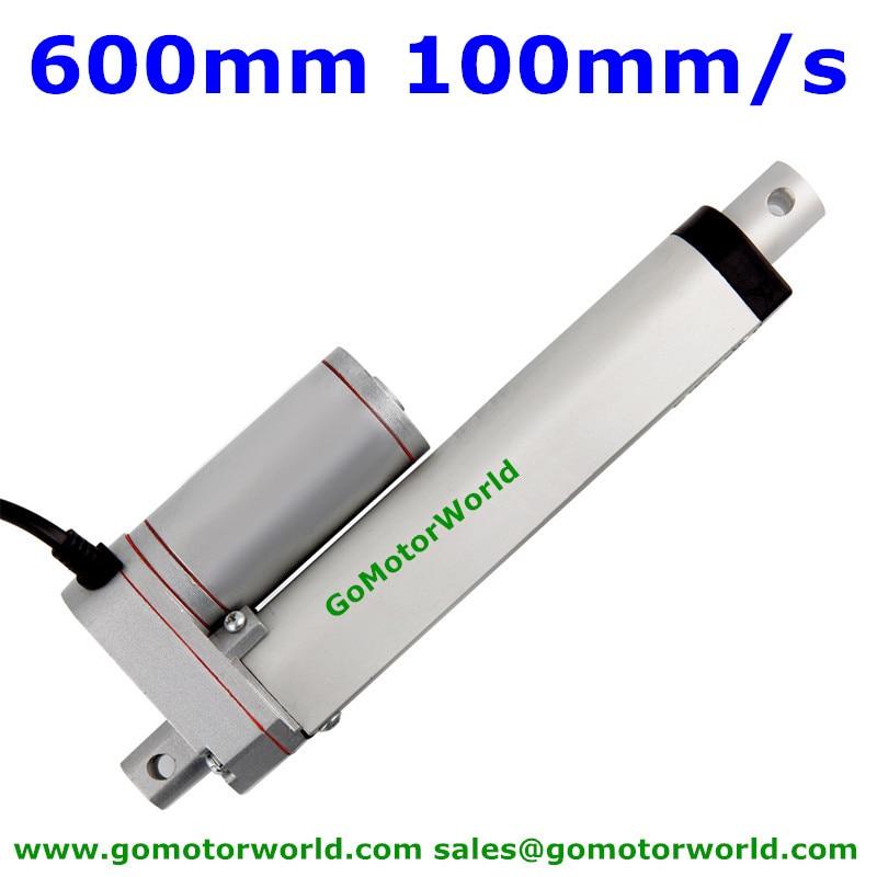Best heavy duty Linear Actuator 12V 24V 600mm Stroke 1600N load 100mm/s  speed actuator linear manufacturer