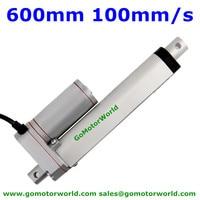 Best heavy duty Linear Actuator 12V 24V 600mm Stroke 1600N load 100mm/s speed actuator linear