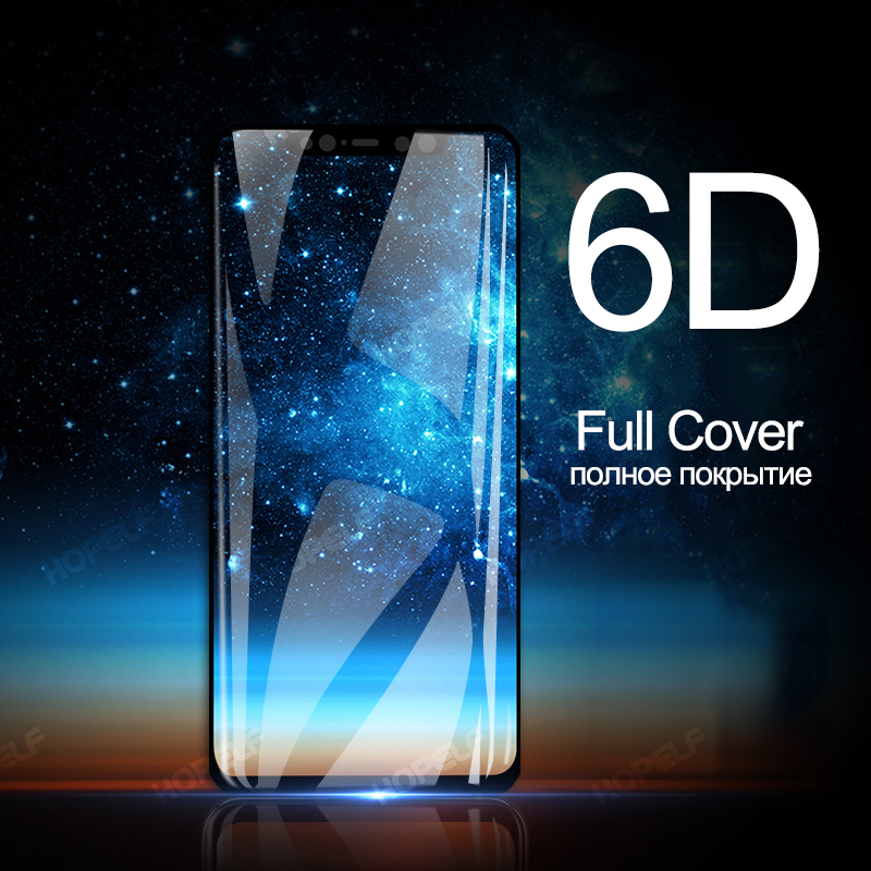 HOPELF 6D Tempered Glass for Xiaomi Mi 8 Glass for 8 Light Screen Protector on