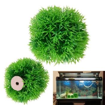 Green Aquarium Artificial Water Grass Artificila Fish Tank Plant Ball Ornament Aquatic  Landscape Decoration Aquarium Supplies