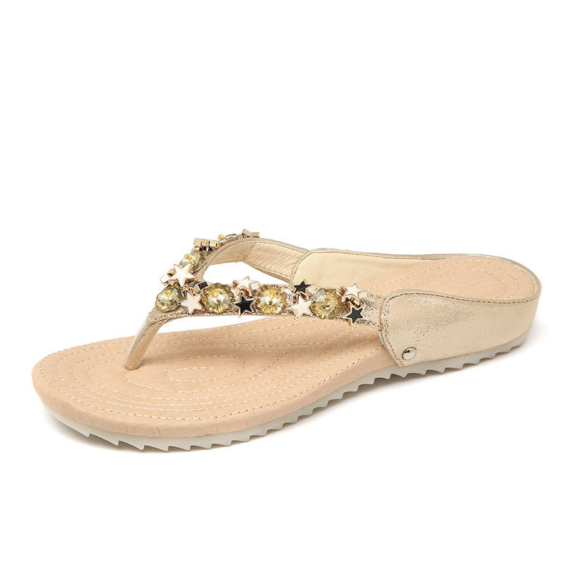 2018 New Women Slippers Summer Beach Slippers Flip Flops Sandals Women Pearl Fashion Slippers Ladies Flats Shoes sapato feminino bees slippers women g designer flats sandals bees logo fashion women beach summer slippers flip flops