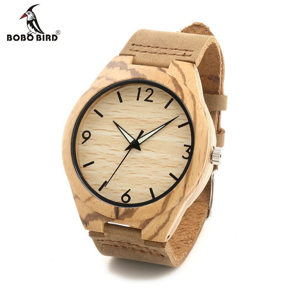 ФОТО BOBO BIRD F27 Antique Luxury Brand Designer Men's Zebra Wood Watches With Genuine Leather Straps Quartz Watch in Boxes Relogio