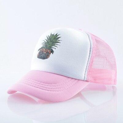 Girl Pink Love Korean Mesh Baseball Caps Adjustable Trucker Hat