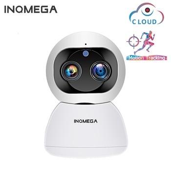 INQMEGA Cloud 1080P 2MP Dual-Lens Wireless IP Camera Wifi Auto Tracking Indoor Home Security Surveillance CCTV Network Camera 1