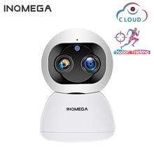 INQMEGA ענן 1080P 2MP כפול עדשת Ip אלחוטי Wifi אוטומטי מעקב מקורה אבטחת בית מעקבים טלוויזיה במעגל סגור רשת מצלמה