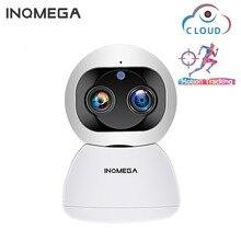 INQMEGA Cloud 1080P 2MP Dual เลนส์กล้อง IP ไร้สาย WIFI การติดตามอัตโนมัติภายในบ้านการเฝ้าระวังกล้องวงจรปิดเครือข่ายกล้อง