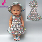 Doll dress for 43cm doll dress with hat suit for 18 inch american girl doll dress accessory baby girl play toys