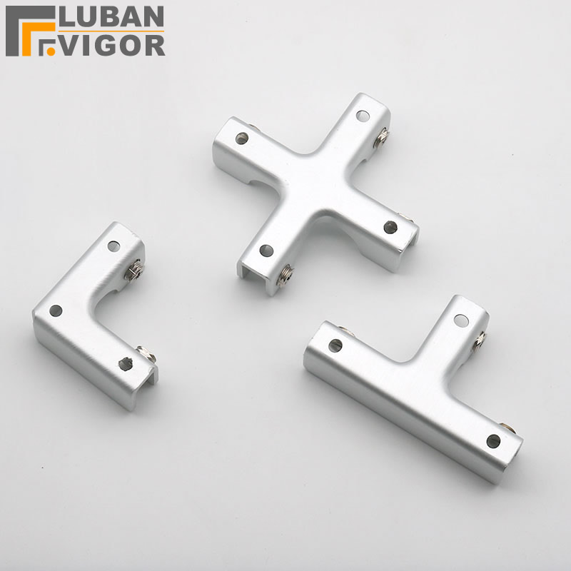 Aluminum Alloy Glass/Acrylic Showcase Clips/connector,for  Glass/Acrylic,without Drilling,Aquarium DIY Connector,Hardware