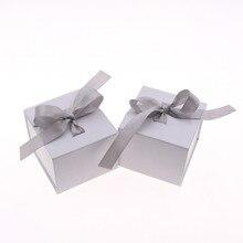 Mini Paper Ribbon Added Jewelry Box