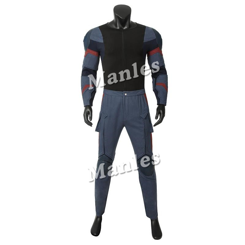 Image 4 - In Stock Avengers 4 Endgame Costume Captain America Steven Rogers Cosplay Jumpsuit Superhero Adult Halloween Outfit Custom Made-in Movie & TV costumes from Novelty & Special Use