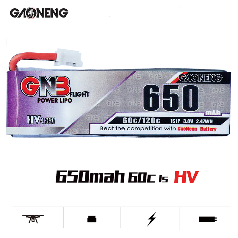 Image 2 - 5PCS Lipo Battery Gaoneng GNB HV 650mAh 60C 1s 2s 3s 4s HV With PH2.0 XT30 Plug For Emax Tinyhawk Kingkong LDARC TINY-in Parts & Accessories from Toys & Hobbies