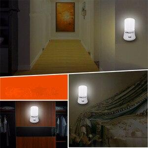 Image 5 - 1 ワット ac 110 220 v led ミニナイトライト eu/米国のプラグインのための子供ベビー寝室の壁ソケットライト家の装飾ランプ