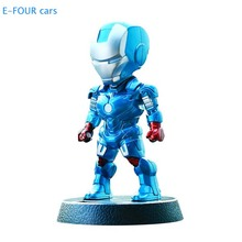 E-FOUR Cartoon Doll Car Ornament Captain American and Iron Man Little Cute Lovely MARVELS Hero Decoration House Office